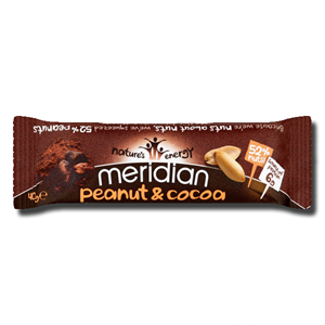 Meridian Gluten Free Peanut & Cocoa (6g) Protein Bar 40g