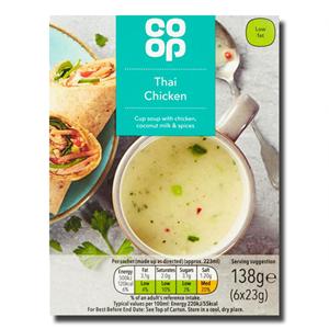 Coop Cup Soup Thai Chicken 6x23g