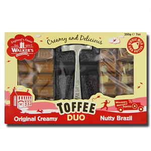 Walkers Toffee Duo Nutty Brazil 200g