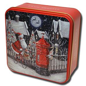 Grandma Wild's Embossed Santa on a Bike Tin 160g