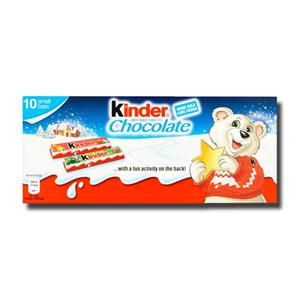 Kinder Chocolate Milk Chocolate Bars 10x12.5g