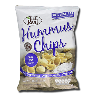 Eat Real Hummus Chips Sea Salt 135g