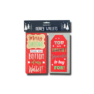 Partisan 4 Pack Money Wallets