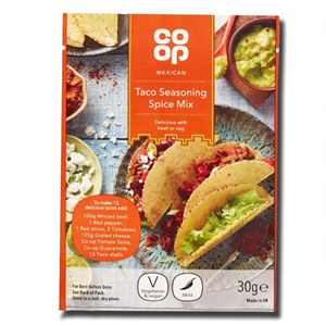Coop Mexican Taco Seasoning Spice Mix 30g