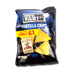 Wanted Tortilla Chips with Salt 150g