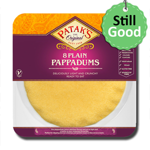 Coop Plain Pappadums 8 Ready to Eat 64g