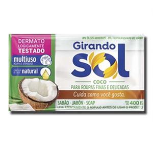 Girando Sol Barra de Sabão Para a Roupa Aroma a Coco 200g
