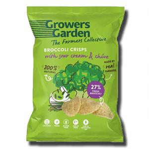 Growers Garden Broccoli Crisps Sour Cream & Chive 78g
