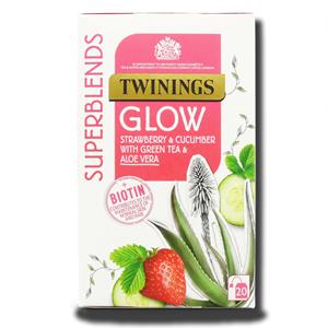 Twinings Glow Strawberry & Cucumber with Green Tea & Aloe Vera 20's 30g