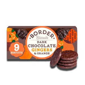 Border Biscuits Dark Choc Ginger & Orange 150g