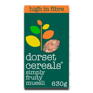 Dorset Simply Fruity Muesli Pineaple Papaya Sultanas 630g