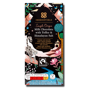 Coop Milk Chocolate Toffee Himalayan Salt 100g
