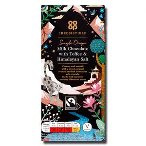 Coop Milk Chocolate Toffee Himalayan Salt 100g