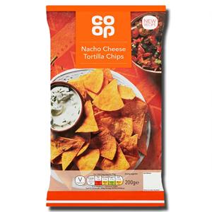 Coop Nacho Cheese Tortilla Chips 200g