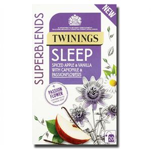 Twinings Sleep Spiced Apple Vanilla Camomile Passionflowers 20's 30g