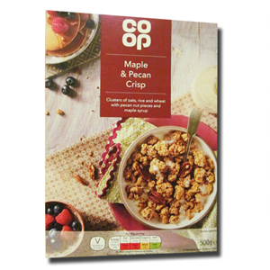 Coop Maple Pecan Crisp Cereal 500g