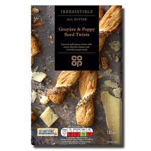Coop Grueére Poppy Seed Bread Sticks 125g