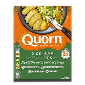 Quorn 2 Crispy Filllets 200g
