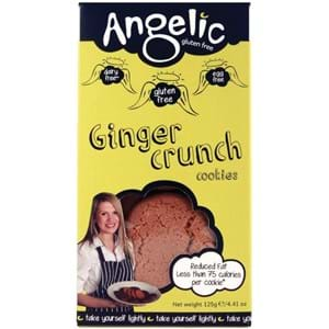 Angelic Ginger Crunch Cookies Gluten Free 125g
