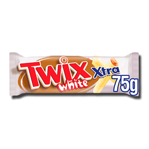 Twix Xtra White Chocolate Biscuit Twin Bars 75g