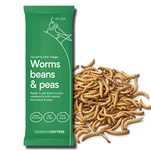 Crunchy Critters Worms Beans & Peas Sea Salt & Cider Vinegar 30g