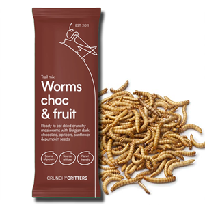 Crunchy Critters Worms Choc & fruit Trail Mix 32g