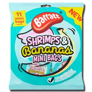 Barratt Shrimps & Bananas Mini Bags 176g