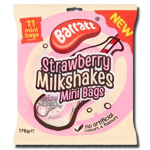Barratt Strawberry Milkshakes Mini Bags 176g