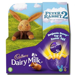 Cadbury Dairy Milk Peter Rabbit Toy & Easter Egg 72g