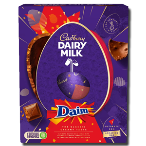 Cadbury Dairy Milk Giant Daim Inclusion Easter Egg 570g