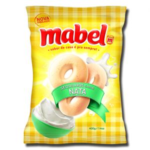 Mabel Rosquinha sabor Nata 350g
