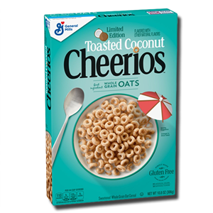 General Mills Cheerios Toasted Coconut Grain Oats 306g