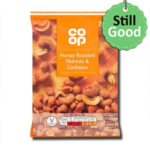 Coop Honey Roasted Peanuts & Cashews 200g