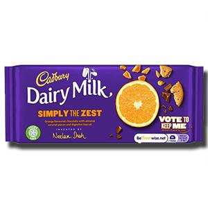 Cadbury Dairy Milk Simply the Zest Orange 110g