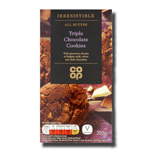 Coop All Butter Triple Chocolate Cookies 200g