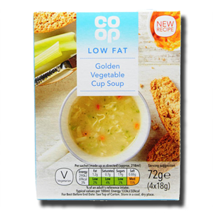 Coop Low Fat Golden Vegetable Cup Soup 4x18g