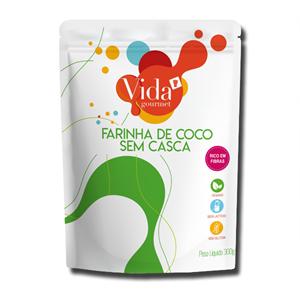 Vida Gourmet Farinha de Coco sem Casca 300g