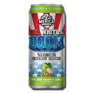 America Energy Red, White & Boom Apple 480ml