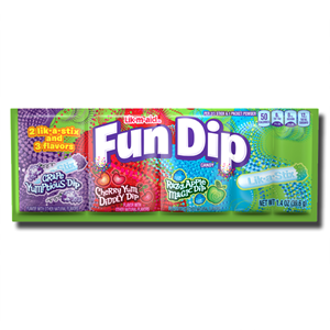 Wonka Fun Dip 2 lik-a-stix & 3 flavors 39.6g