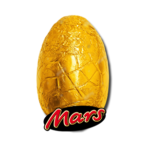 Mars Chocolate Egg in Gold Foil 75g