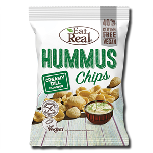 Eat Real Hummus Creamy Dill Chips 45g