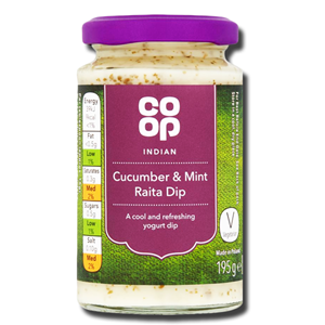 Coop Indian Cucumber & Mint Raita Dip195g