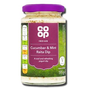 Coop Indian Cucumber & Mint Raita Dip195g