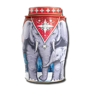 Williamson Large Elephant Winter Star Earl Grey Tin 40's 100g