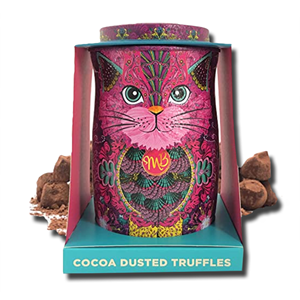 Monty Bojangles Cocoa Dusted Chocolate Truffles Persian Pink Tin 135g
