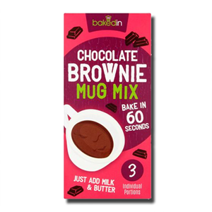 Bakedin Chocolate Mug Brownie Mix 165g