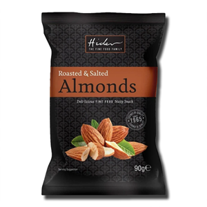 Hider Roasted and Salted Almonds 90g