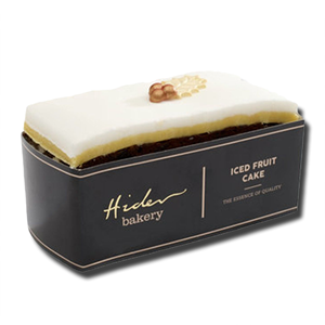 Hider Bakery Iced Top Xmas Fruit Cake Slab 400g