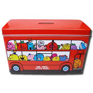 Mr. Men Little Miss Red Buss Mini Chocolate Cookies Tin 150g