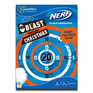Kinnerton Chocolate Advent Calendar Nerf Blast Through Christmas 40g